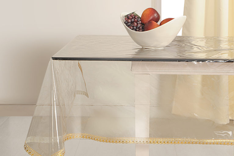 sleek gold table cover