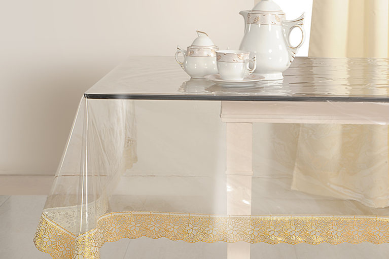 super soft gold table cover